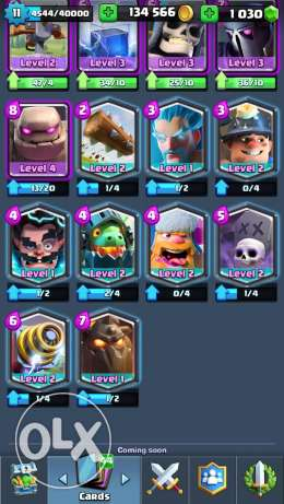Clash royale 4600 trophies lvl 11 with 10$ google play card