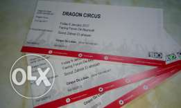 Dragon circus tickets for only 20$ all seats depends if u get sooner.