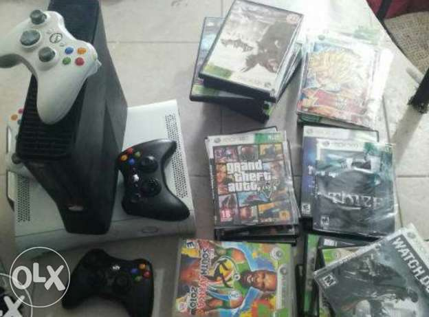 Slim°°Xbox°°_ with 20 games..