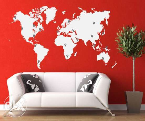 World map stickers