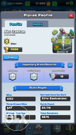 4000+ Trophies Clash Royale for sale quick $$ Cheap Legendary Account$