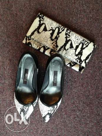Custom Made High Heels Shoes and Matching Clutch.