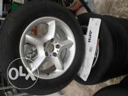 Rims 17 intch x5 with tires