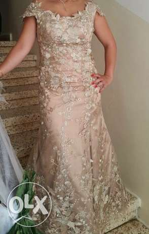 long dress feom ziad chamoun haute couture wearing once