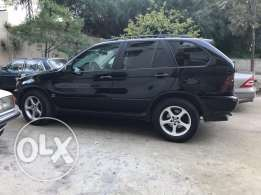 X5 2001 black in black full option , new rims