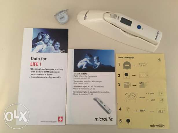 LAST WEEK . microlife digital infrared ear thermometer ,made in Swiss