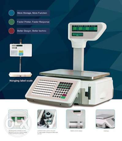 Scale POS Printing Label with LCD display NEW