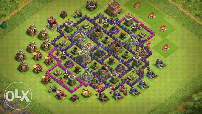 Acc clash of clans th 8 lvl 73