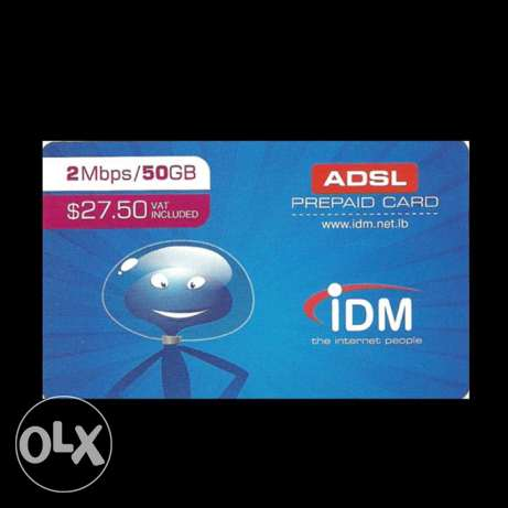 IDM DSL Internet Recharge Card