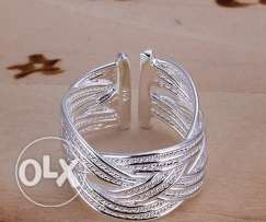 Wavy Silver Ring