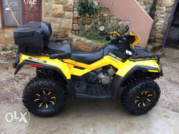 can-am outlander 650 v-twin EFI max-xt front winch 2012 new tires !