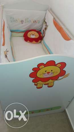 Cilek Baby Safari cover + New mattress