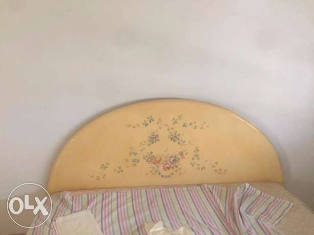 Bed With Flowery Design