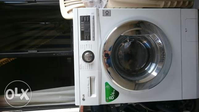 LG washer and dryer 8/4 kg