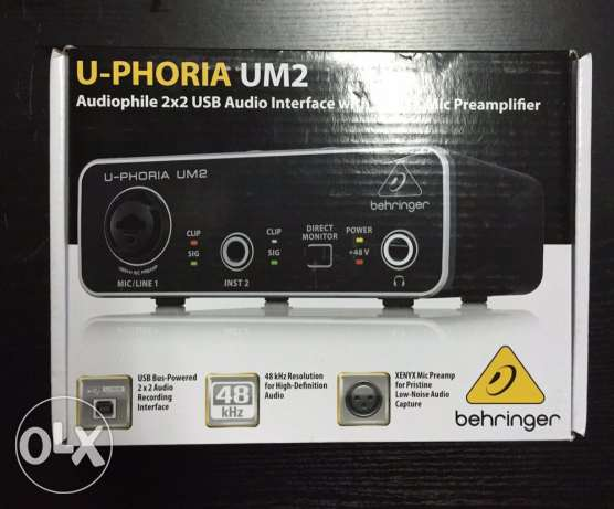 Behringer UM2 sound card with mic preamp