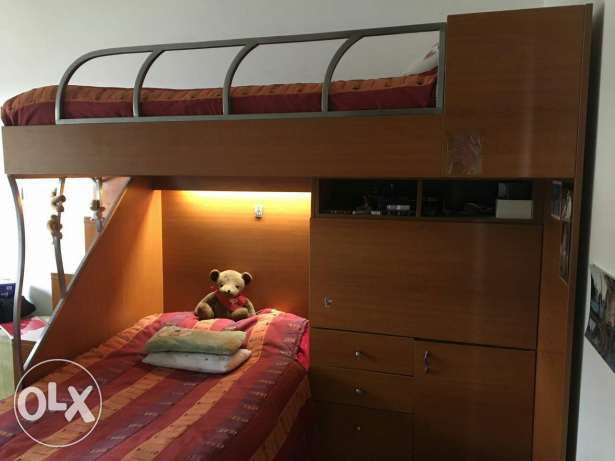 Wooden Bunked beds