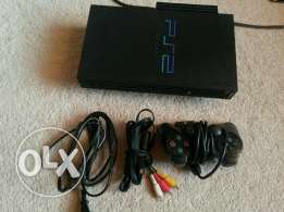 playstation two fat ps2 +1 controller + cables