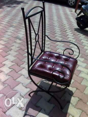 Hand made steel chairs