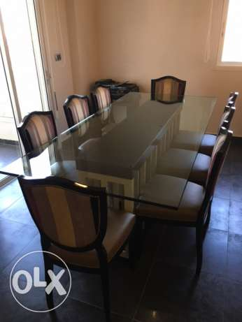 Modern Dining Table with 8 Chairs