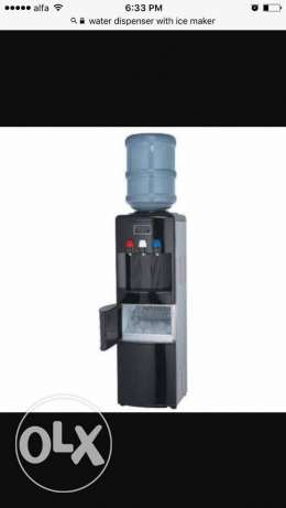 Water dispenser with icemaker