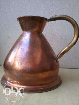 Old Jug, heavy copper, hand made, from Germany, 27$