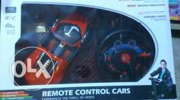 RC car with steering wheel