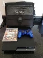 Ps3 with cd, conroller and bag