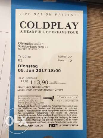 Coldplay Concert Tickets - Munich
