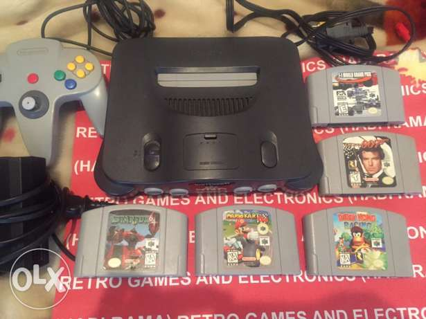nintendo 64 COMPLETE with 5 best games