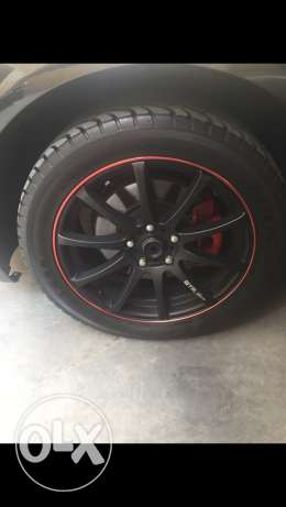 "18"" rims with wheels بعبدا -  2"