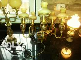 Antique set English lights