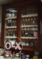 kitchen cabinet with marble top