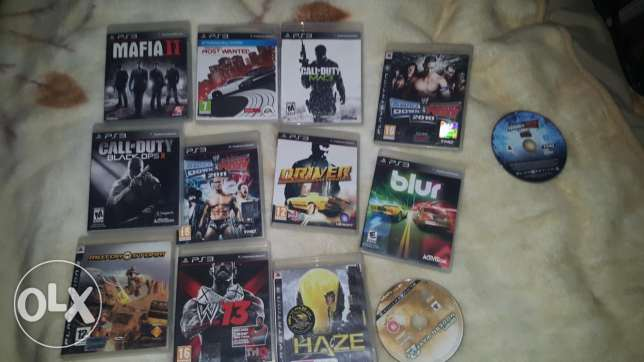 13 CDs PS3 for sell w 2 CDs bala 3elbe
