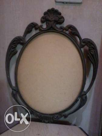 Antique heavy copper Frame, 60 to 80 years, 27$