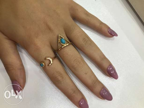 gold plated set of 2 rings
