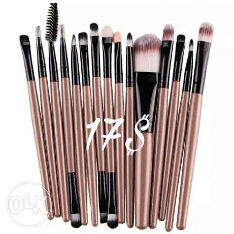 Makeup Brushes ( 15 pcs ) ( Check Available Colors )