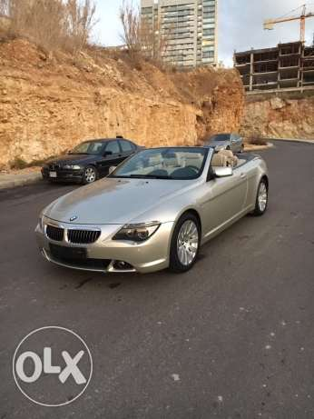 BMW 650i 2007 convertible like new الروشة -  2