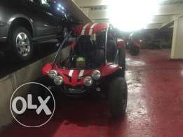 PGO Buggy Red with white stripes
