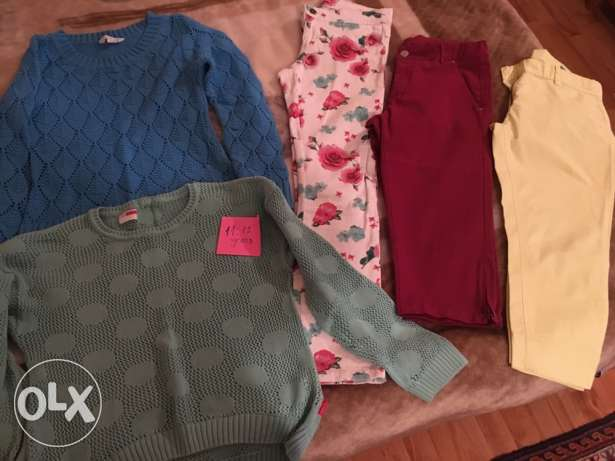 11-12 year old girls top and pants each one 7$
