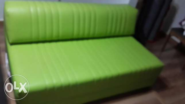 Sofa bed cuir pistache