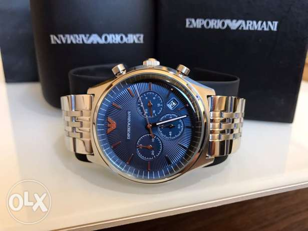 The new original blue and rose Armani watch