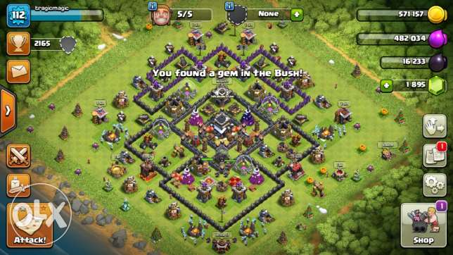 Amazing Town Hall 9 Clash of Clans account