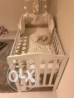 Baby Mattress and Crib (120x60) in excellent condition