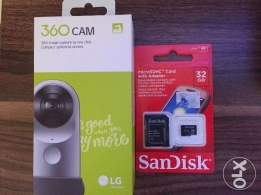 "LG 360 CAM with 32GB micro card ""brand new"""
