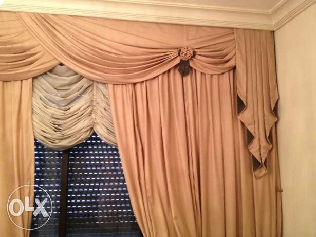 2 double curtains fr Salon & dining room frm wardé
