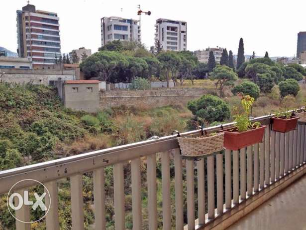 3br apartment for rent in Horsh Tabet facing an open green space!