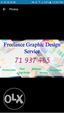 I am a freelance Graphic Designer