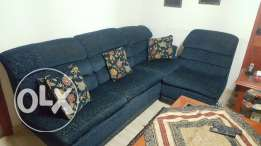5 piece sectional couch includes 2 recliners plus 1 double bed