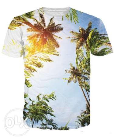 T-shirt with palm design