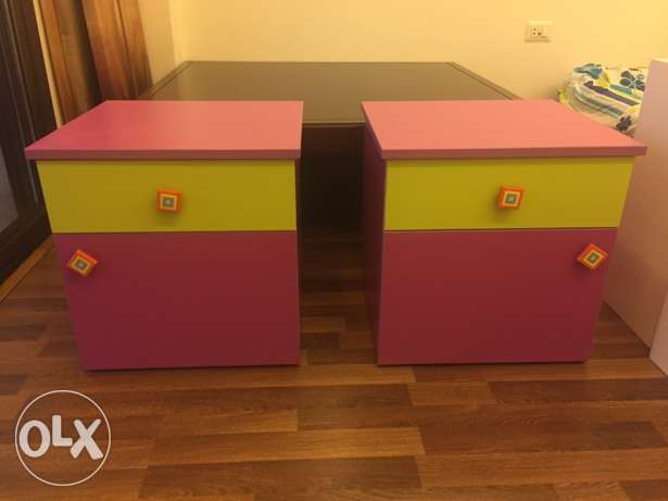 Bed side tables (x2) for kids